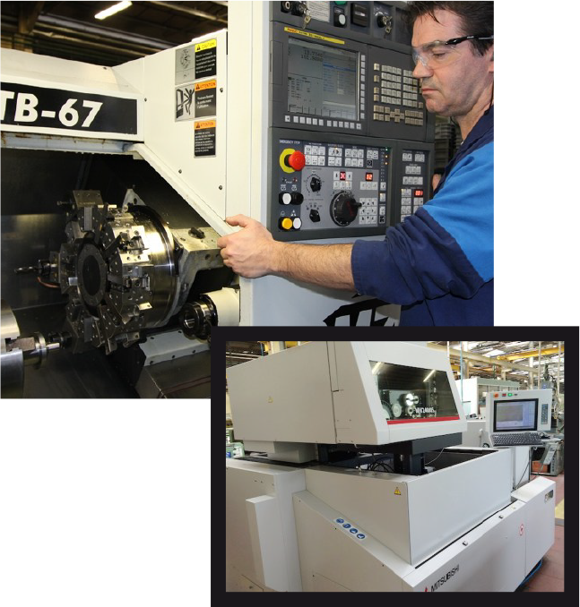 Conventional and CNC controlled machines for tool manufacturing