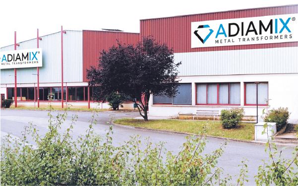 ADIAMIX Bedrijslocatie Alençon, gespecialiseerd in pons & dieptrekonderdelen